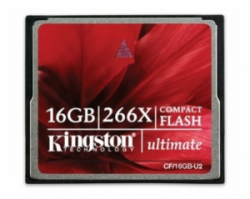 Карта памяти KINGSTON Compact Flash 16Gb 266x (40 Mb/sec) (CF/16GB-U2)