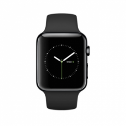 Apple Watch 42mm Space Black Stainless Steel Case with Black Sport Band (MLC82) (refurbished)