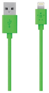 Кабель BELKIN USB 2.0 Lightning charge/sync cable 1.2м, Green (F8J023bt04-GRN)