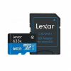 Lexar Micro SDHC 64GB 633x UHS-I C10 High-Perform+ SD-адаптер