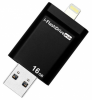 Накопитель USB 16Gb Photofast i-Flashdrive EVO Plus (USB3.0-microUSB/Lightning) Black (EVOPLUS16GbU3)