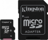 Карта памяти KINGSTON 128GB microSDXC Cl10+adapt