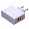 Сетевое зарядное устройство JUST Thunder Dual USB Wall Charger (2.1A/10W, 2USB) White (WCHRGR-THNDR-WHT)