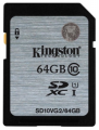 Карта памяти Kingston SDXC 64Gb UHS-1 Class 10 Gen2 (SD10VG2/64Gb)