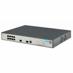 Коммутатор HP 1920-8G-PoE + Smart Switch (JG922A) 8xGE-T + 2xGE-SFP ports
