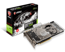 Видеокарта MSI GeForce GTX1080 8Gb GDDR5X SEAHAWK EK X Watercooled