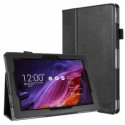 FYY Folio PU Leather Case Cover for Asus TransformerPad TF103C Black
