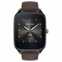 Asus ZenWatch 2 WI501Q Stainless Steel Gunmetal/Brown Leather (Refurbished by  Asus)