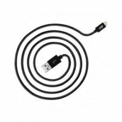 JUST Copper Lightning USB Cable 2M Black (LGTNG-CPR20-BLCK)